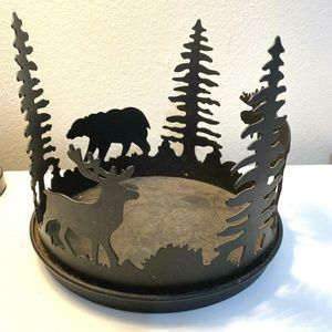 """Partylite Cabin Rustic 3 Wick Candle Holder 7"""""""